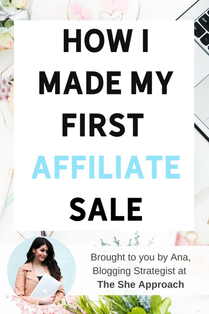 Find out what affiliate networks to join to monetize your blog and earn money online. I made my first affiliate sale with Pinterest and so can you! #affiliatemarketing #affiliatesales #affiliatetips