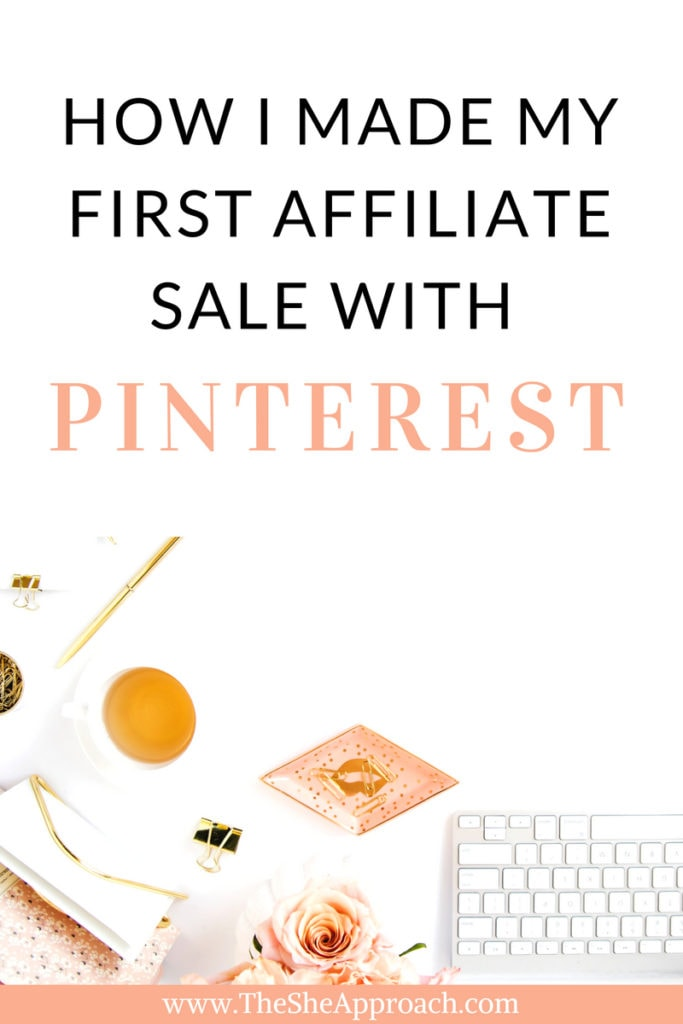 How bloggers make money online through affiliate sales and social media. Find out how I made my first affiliate sale with Pinterest in 24 hours. Full affiliate marketing guide included!