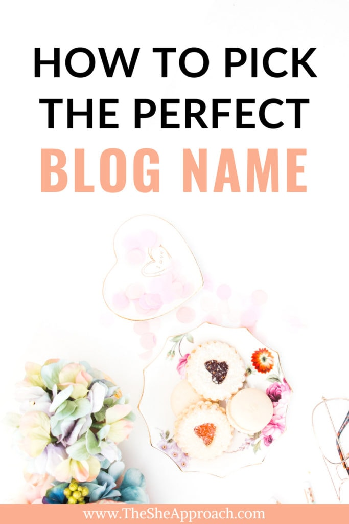 Ever wondered how to pick a name for your blog or business? Find out how to generate blog name ideas and find the perfect title for your first blog, along more The She Approach tips for bloggers. #onlinemarketing #blogname #startablog