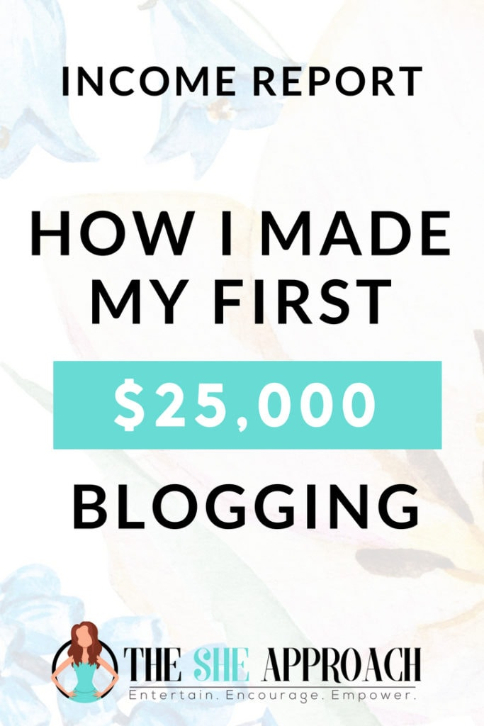 Want to start a profitable blog, make money online and learn how to monetize your website? Read my blogging income report to find how I use affiliate marketing, selling my own products and more to make money blogging. Visit The She Approach for more blogging tips for beginners. #makemoneyblogging #incomereport