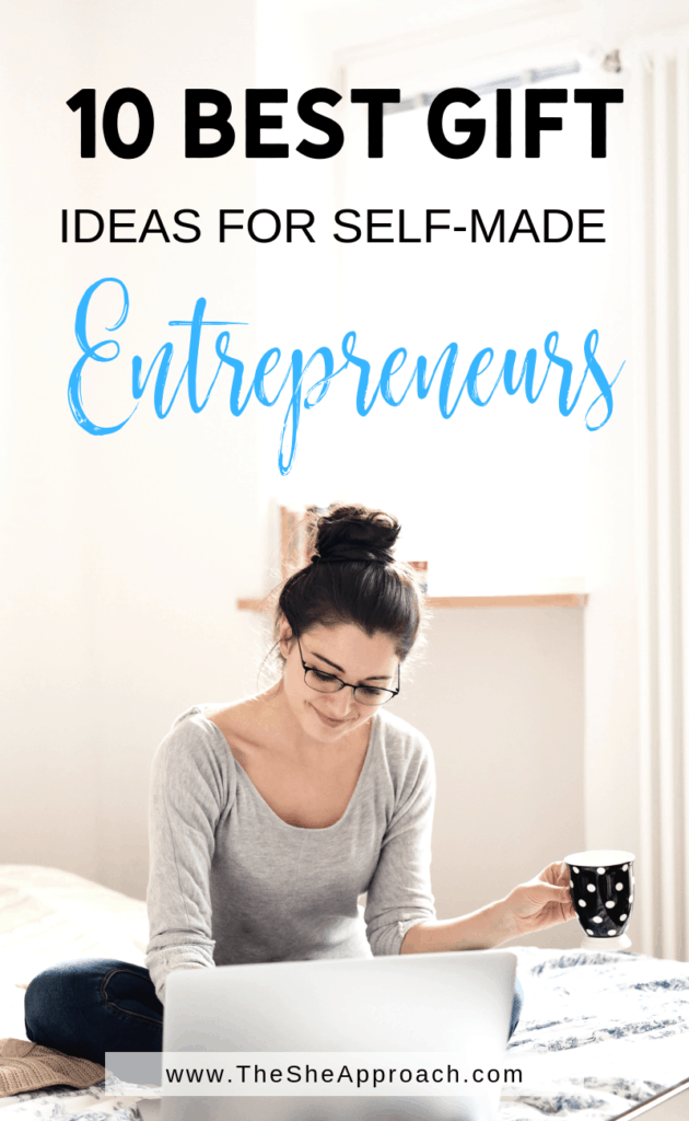 Here are 10 gift ideas for the female entrepreneur in your life. Holiday Gift Guide: 10 Gift Ideas for Female Entrepreneurs. #giftideas #giftguide