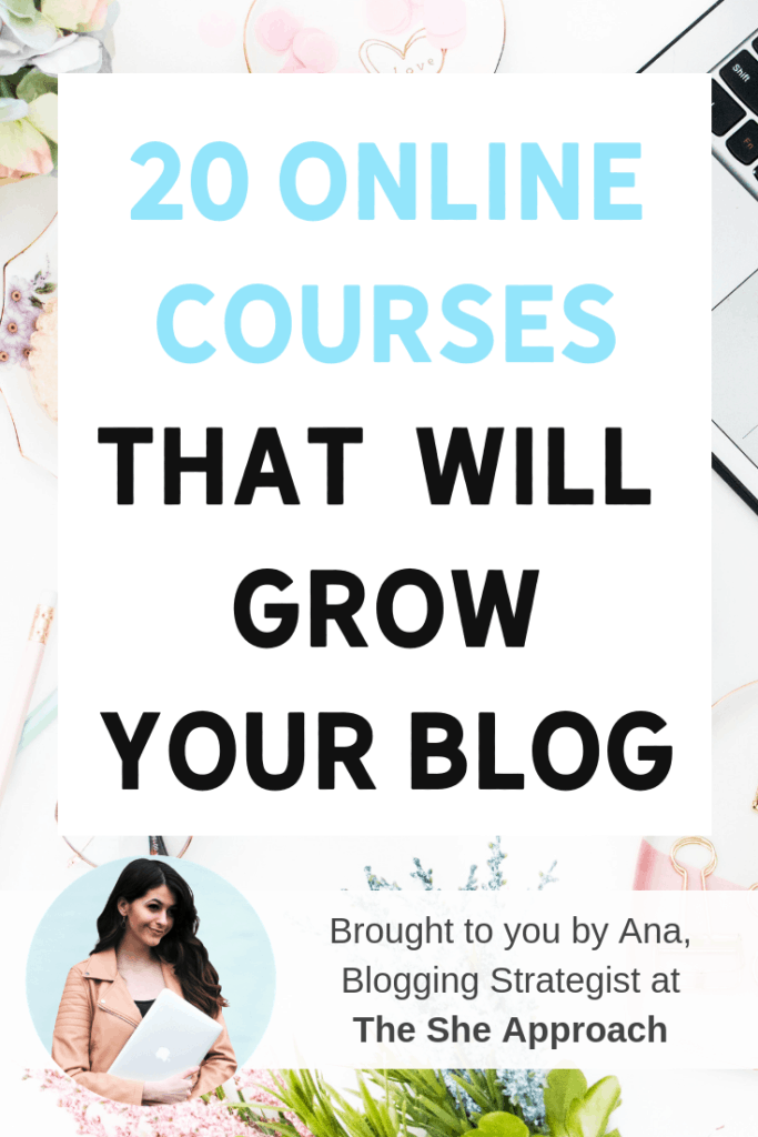 Free courses are great – but you get what you pay for. If you're really looking to supercharge your blog's growth, it's time to invest in some real education. Check out these 20 online courses for bloggers, full of blogging tips that are going to help you make money working from home, and grow your blog. #bloggingresources #bloggingtips