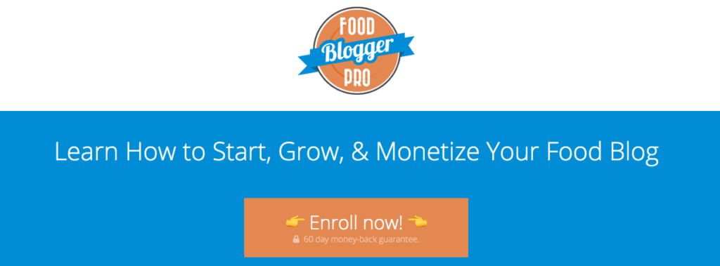 Online course for food bloggers