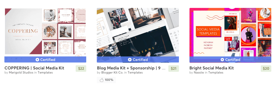 Media Kit Bloggers Template - Work With Brands