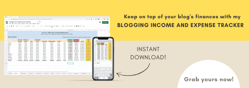 Blog Income Report Tracker
