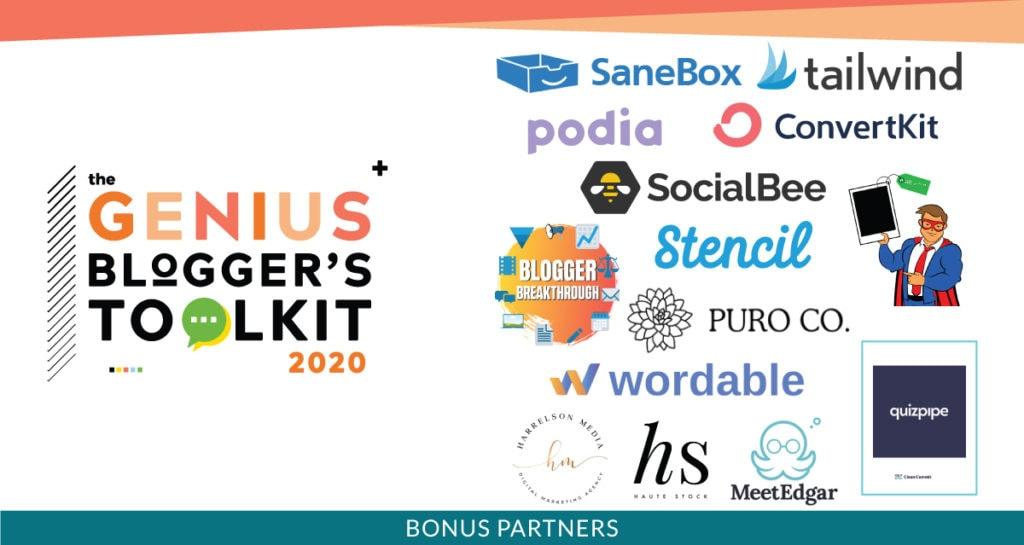 genius bloggers toolkit blogging bundle 2020