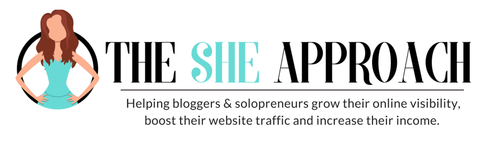 The She Approach Logo - Blogging Tips